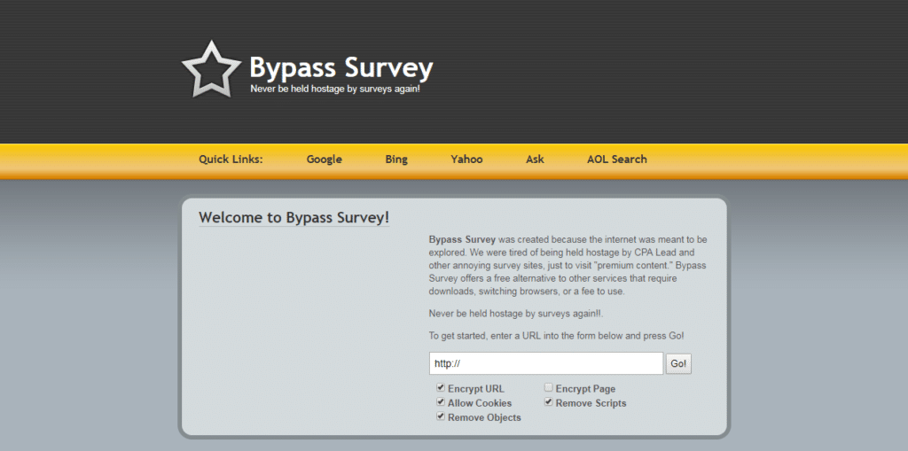 bypass surveys