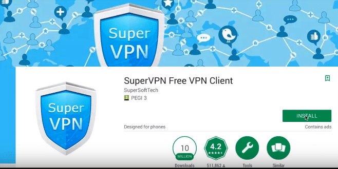 google play store super vpn
