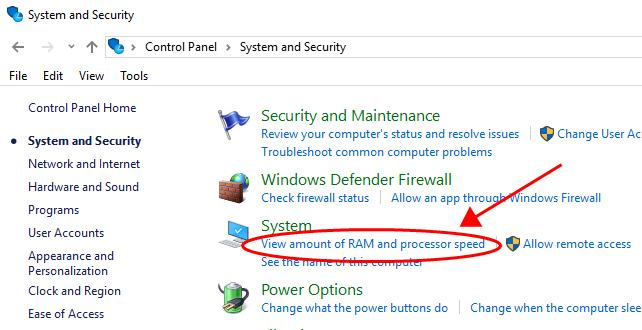 how to check ram 1 using control panel 1