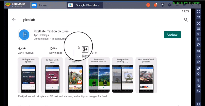 search pixel lab app for pc