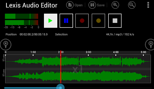 Lexis Audio Editor app